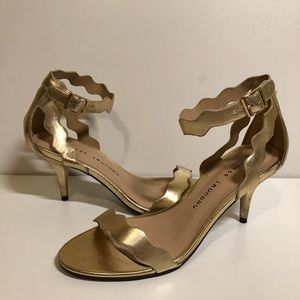 Gold sandals by Chinese Laundry